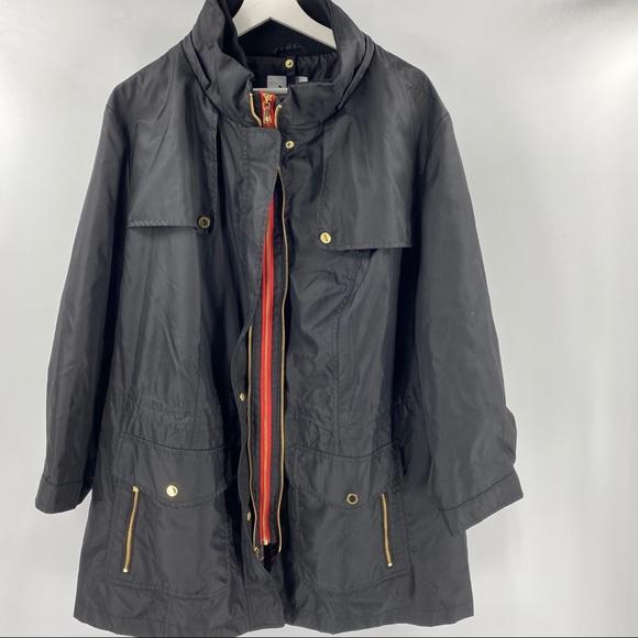 Issac Mizrah Live lined spring rain jacket